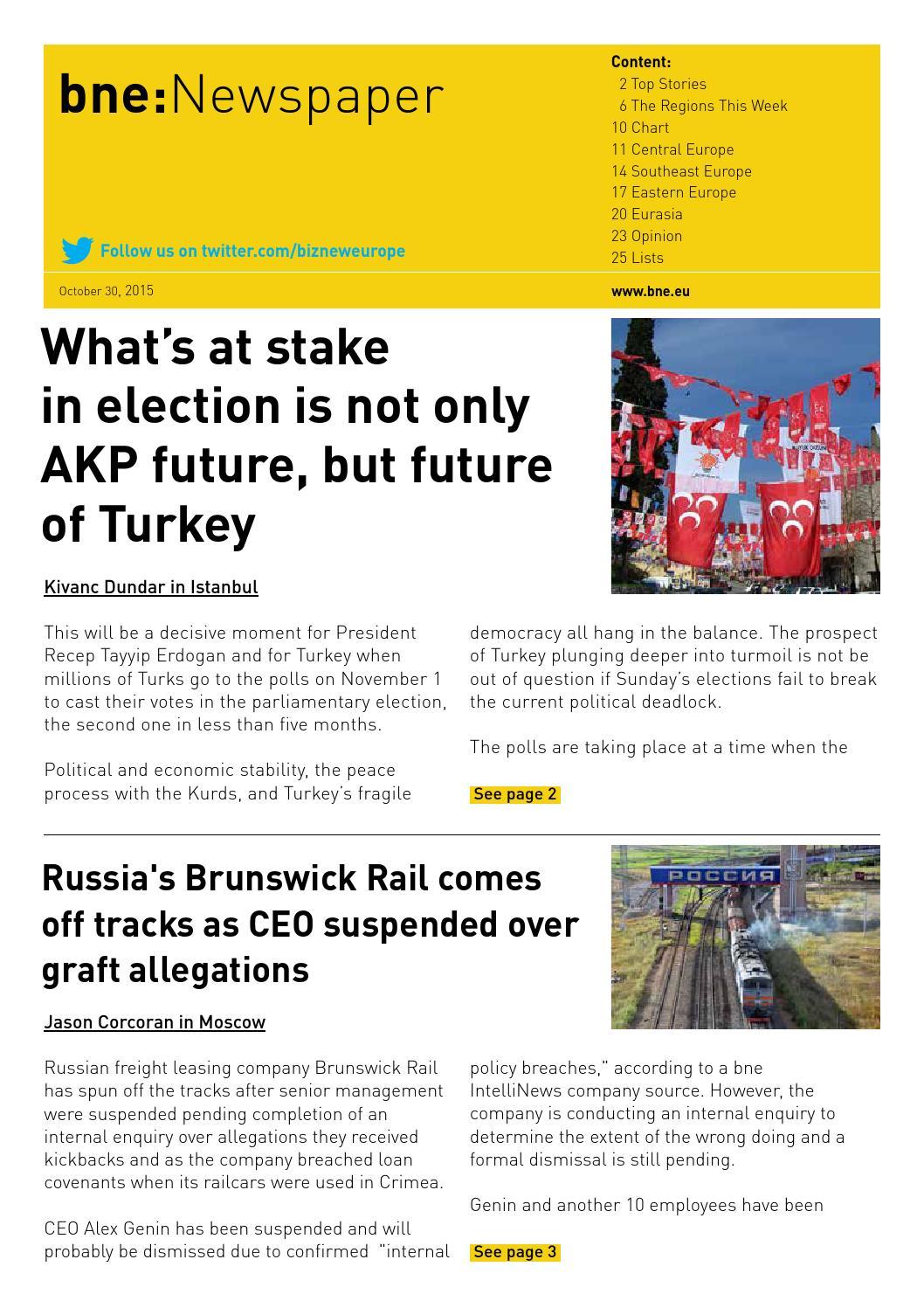 bne:Newspaper October 30, 2015 by Ben Aris issuu