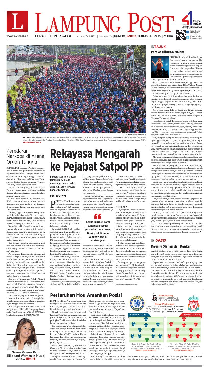 Lampung Post Sabtu 31 Oktober 2015 By Issuu Poduk Ukm Bumn Mr Kerbaw Keripik Bawang Bayam