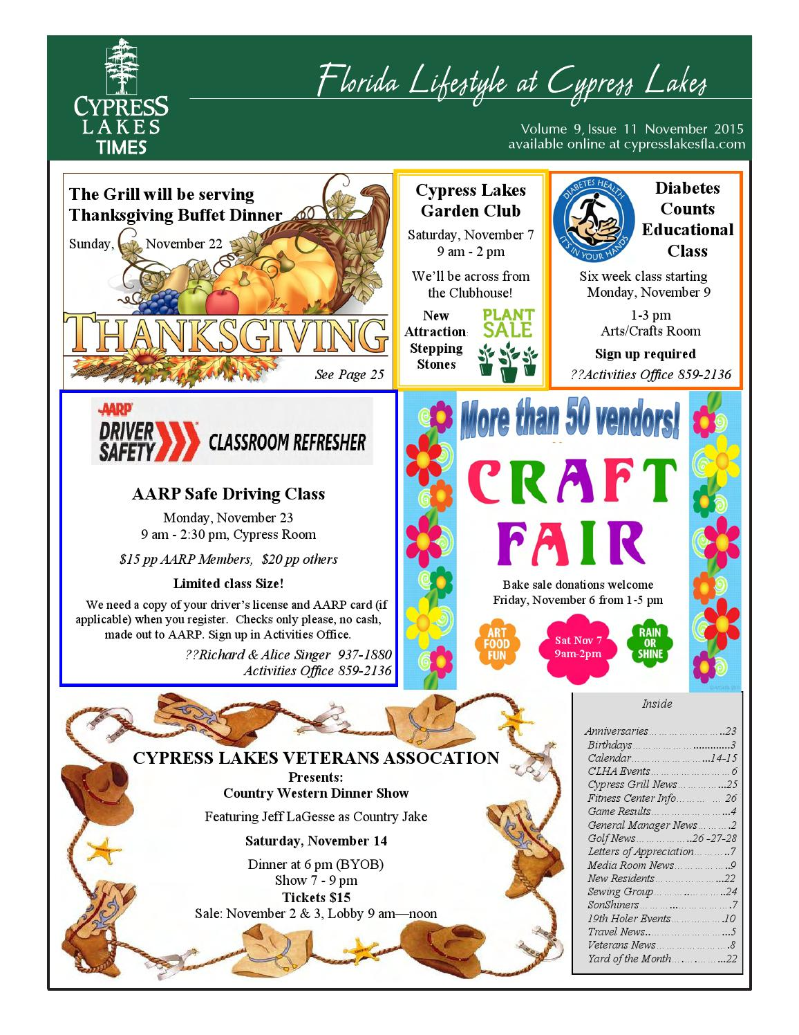 November Cypress Lakes Times By Issuu