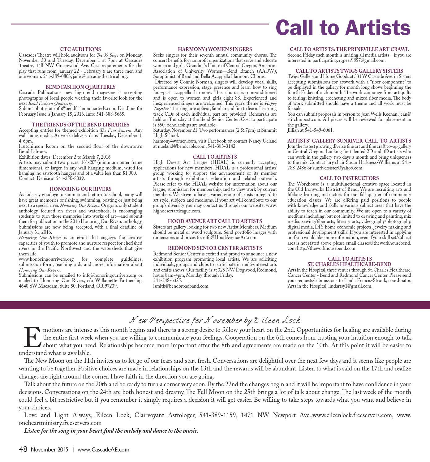 Cascade Arts & Entertainment November 2015 by Cascade