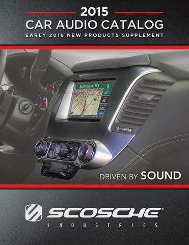 SCOSCHE GM5215B 2015-Up Chevrolet Colorado//GMC Canyon Double DIN /& DIN+Pocket Kit