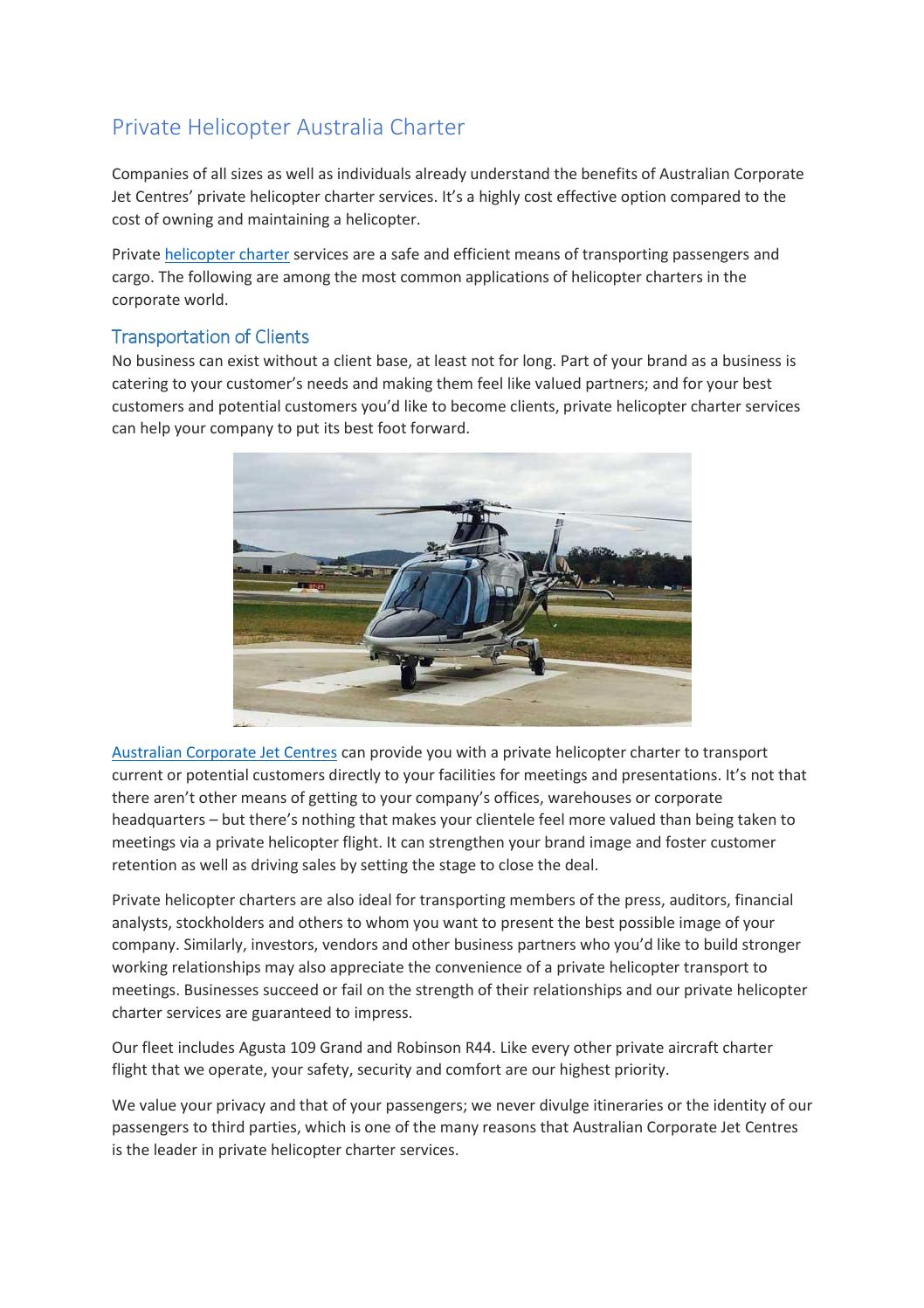 helicopter australia charter by Australian Corporate Jet ... on turboprop aircraft companies, unmanned aircraft companies, atv companies, church organ companies, commercial plane companies, aerial application companies, tow truck companies, fire companies,