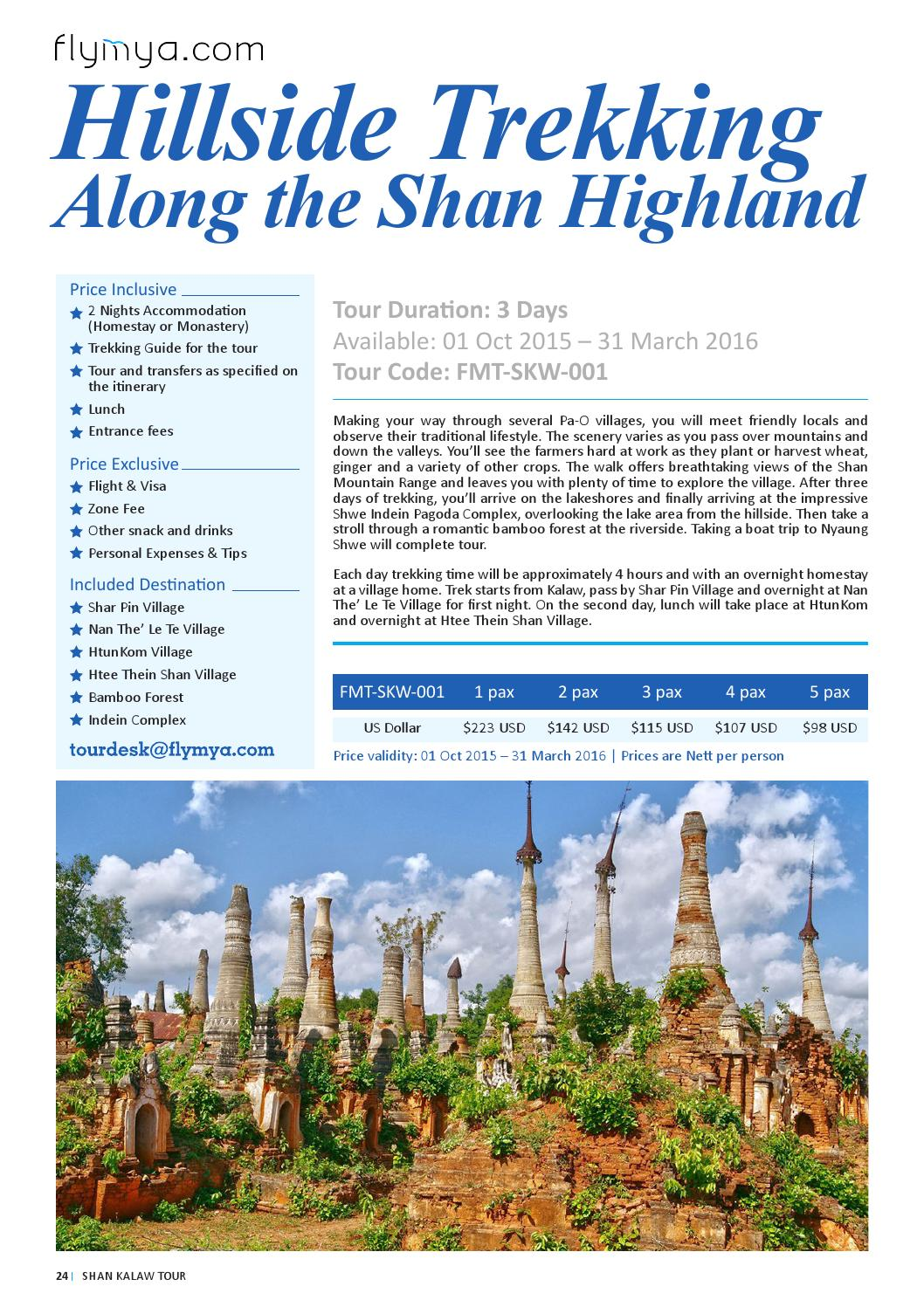 Kalaw Tour Packages by flymya com by flymya - issuu