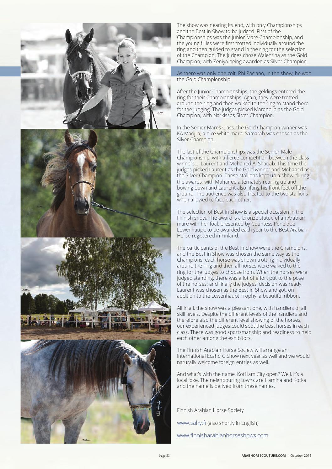 Arab Horse Couture Magazine Oct 2015 By Ljb Publications Llc Issuu