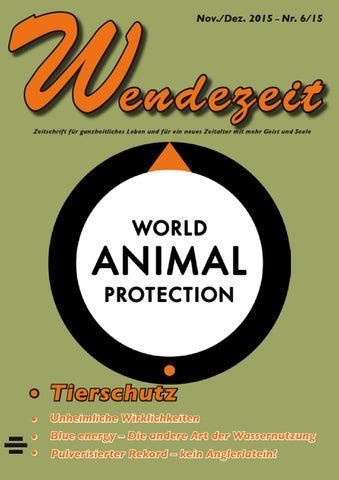 Wendezeit 6/15 - Tierschutz by Fatema Verlag - issuu