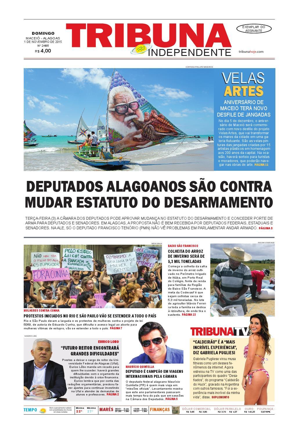 5f4f6b026 Edição número 2485 - 1º de novembro de 2015 by Tribuna Hoje - issuu