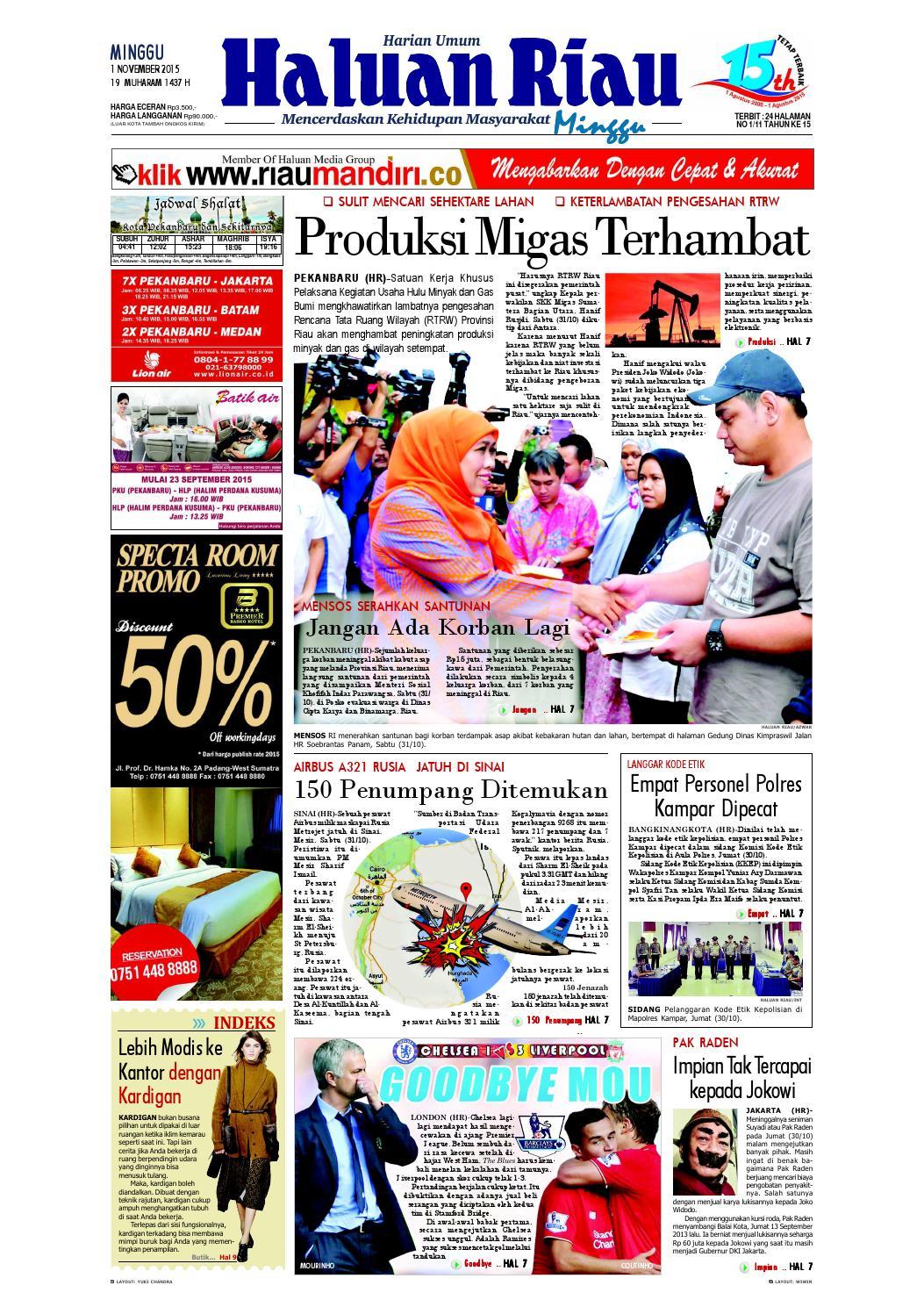 Haluanriau 2015 11 01 By Haluan Riau Issuu