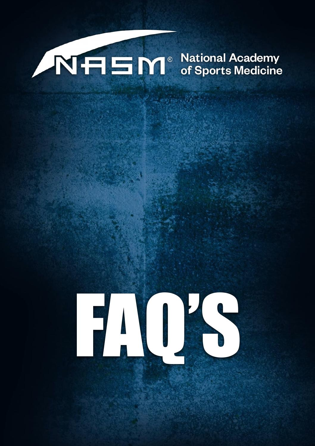 Nasm Frequently Asked Questions By Wayne David Clark Issuu