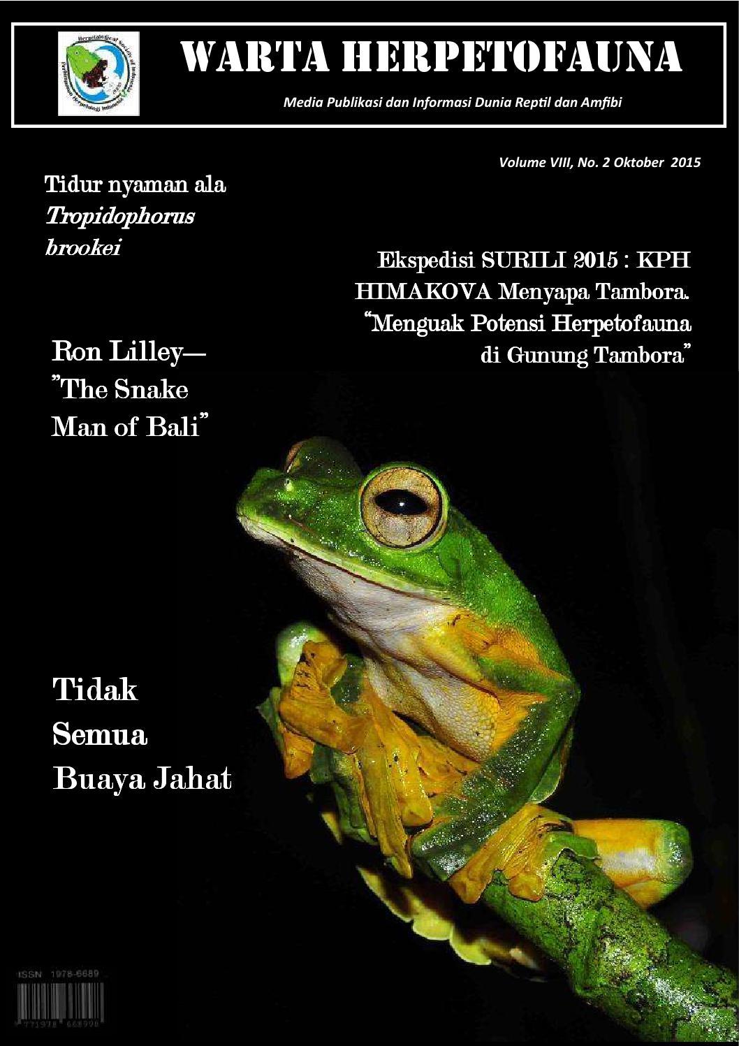 Warta Oktober 2015 By Perhimpunan Herpetologi Indonesia Issuu