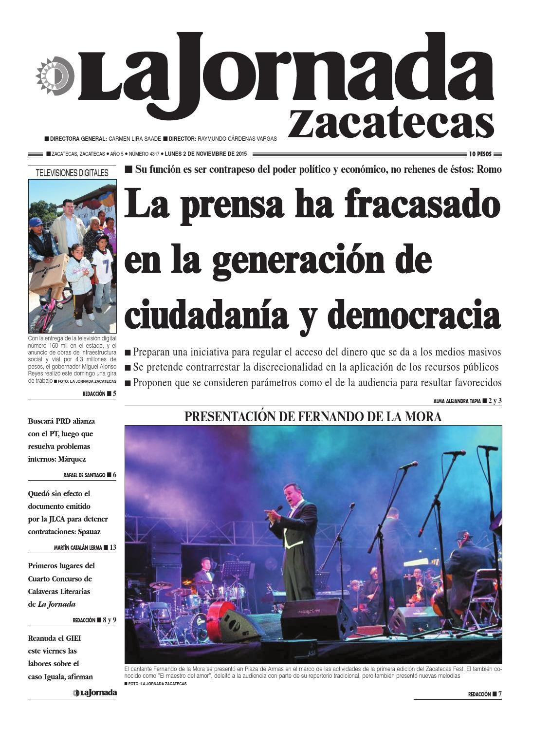 La Jornada Zacatecas, lunes 2 de noviembre de 2015 by La Jornada ...