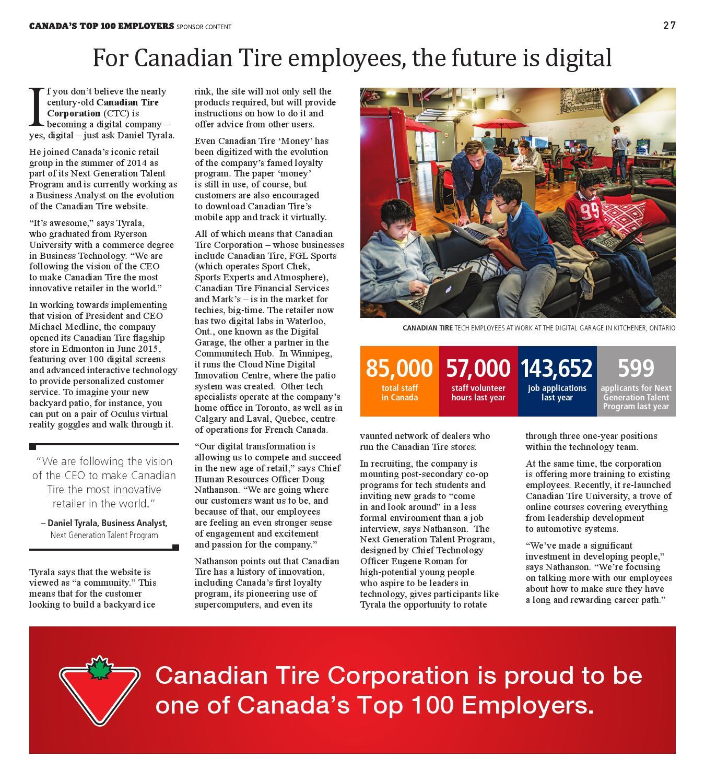 Canada\'s Top 100 Employers (2016) by Canada\'s Top 100 Employers - issuu