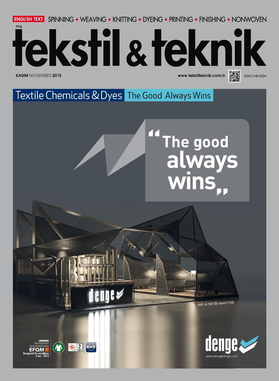 Tekstil Teknik Kasim 15 By Tekstil Teknik Issuu