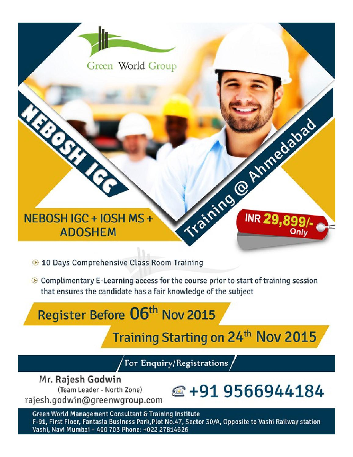 Nebosh Course In Ahmedabad By Greenworld Saudi Issuu