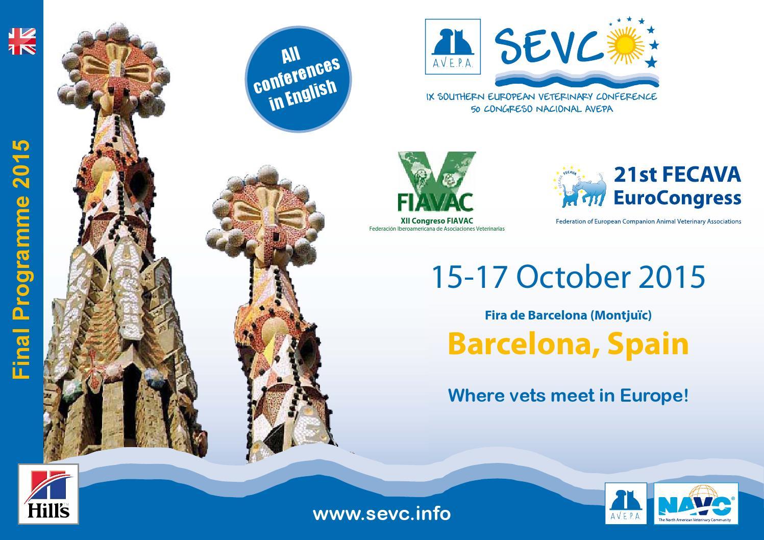 c59727f6 SEVC 2015 - Barcelona by SEVC - issuu