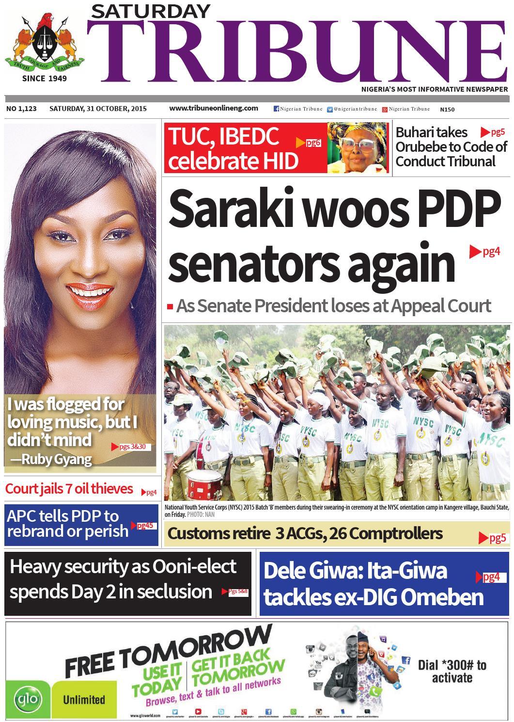 31st October 2015 by Nigerian Tribune - issuu
