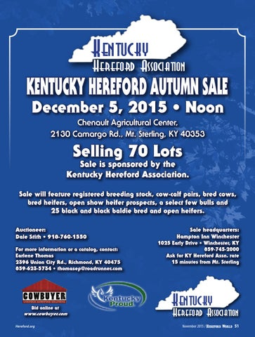 November 2015 Hereford World By American Hereford Association And