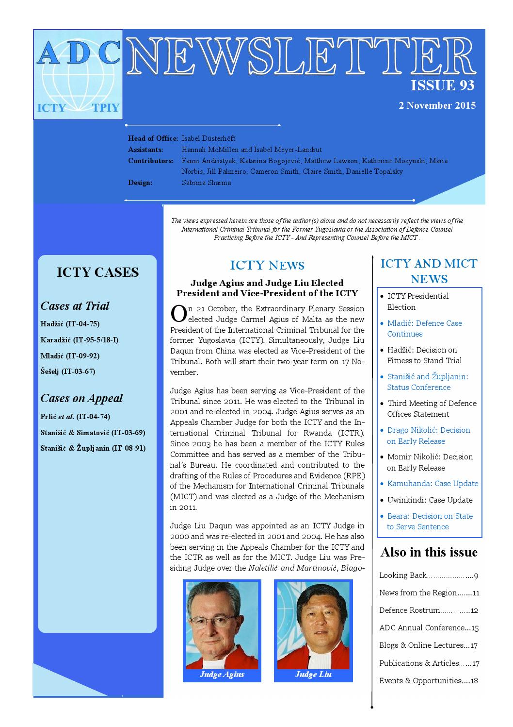 ADC-ICTY Newsletter issue 93
