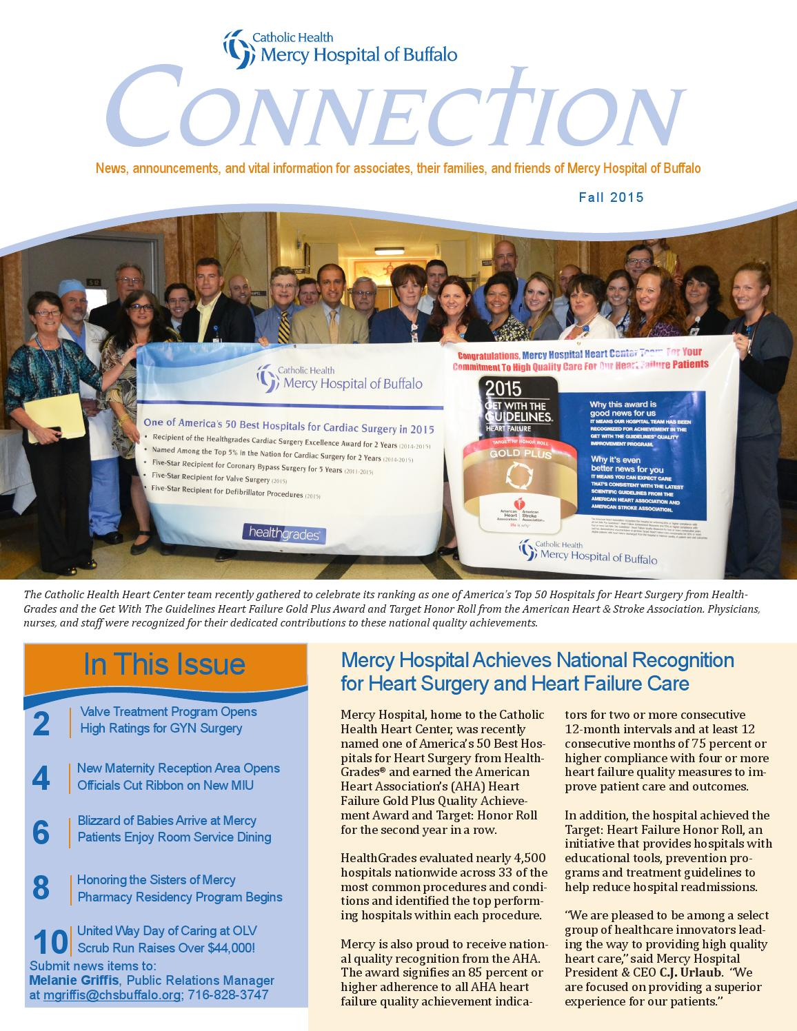 Healthgrades 50 Best Hospitals 2016: Mercy Hospital Connection Fall 2015 By Catholic Health