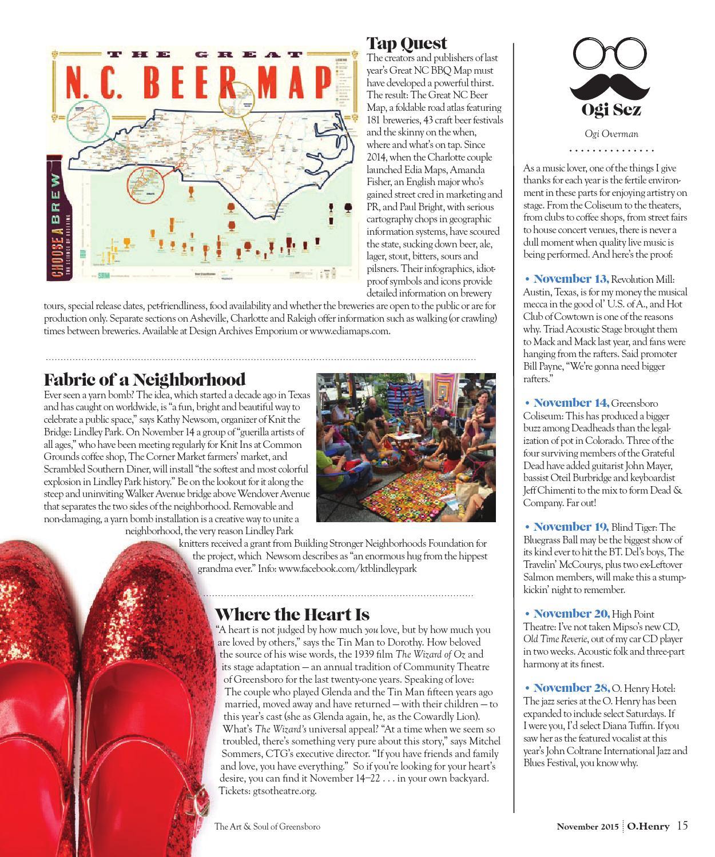 O Henry November 2015 by O Henry magazine - issuu