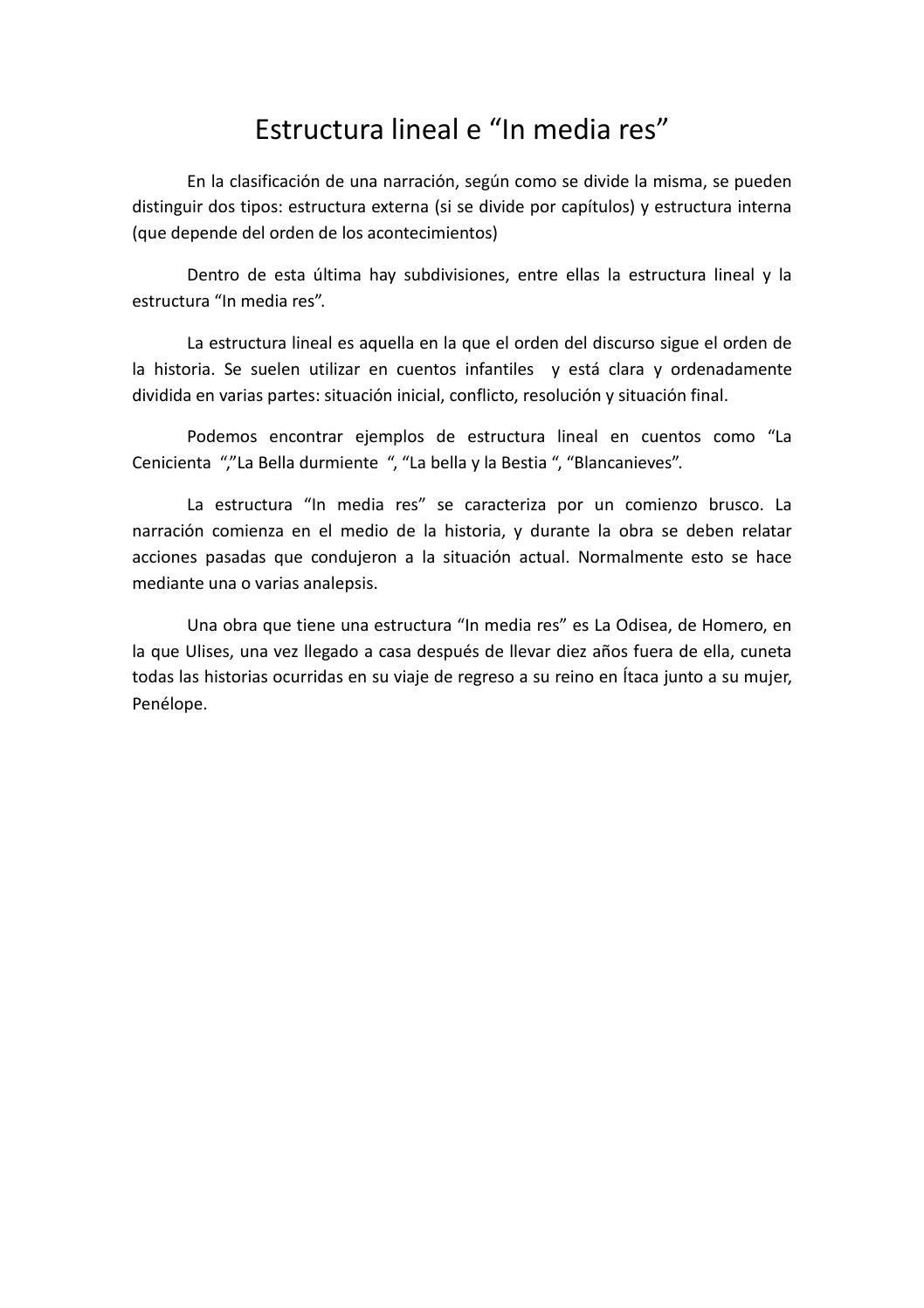 Estructura Lineal E In Media Res By María Sánchez Manteiga