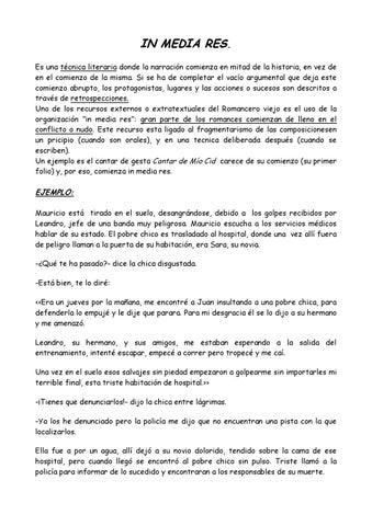 8 Estructura Lineal E In Media Res By María Sánchez Manteiga
