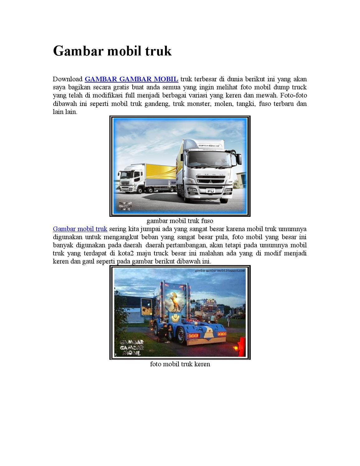 930+ Gambar Gambar Di Mobil Truk Terbaik