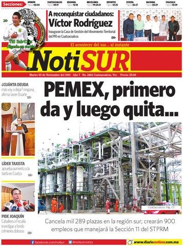 NotiSUR 03 de noviembre 2015 by Diario NotiSUR Coatzacoalcos 2015 ... edc4d9ddcb0