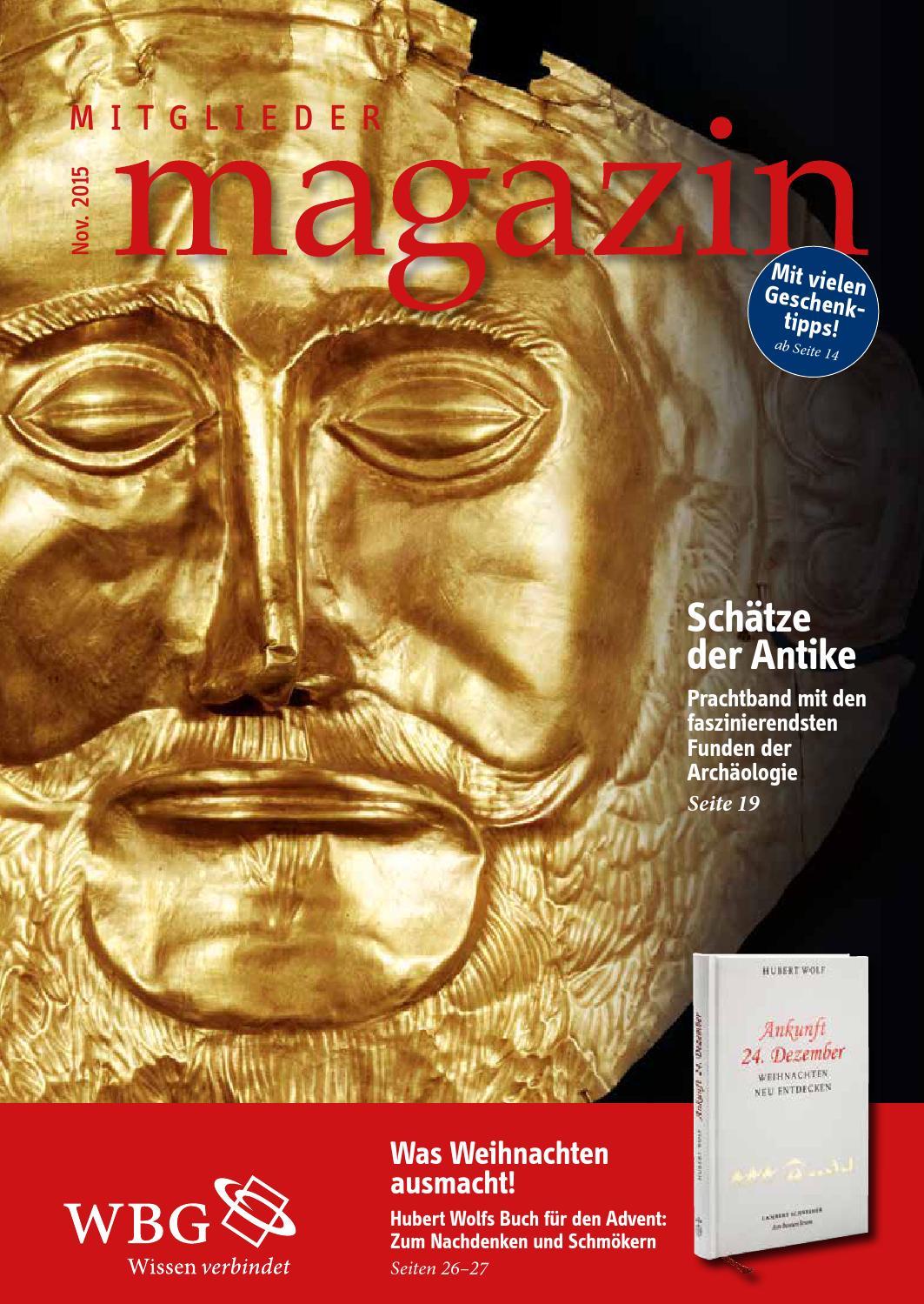 WBG Mitglieder Magazin 4/15 by wbg – Wissen. Bildung. Gemeinschaft ...