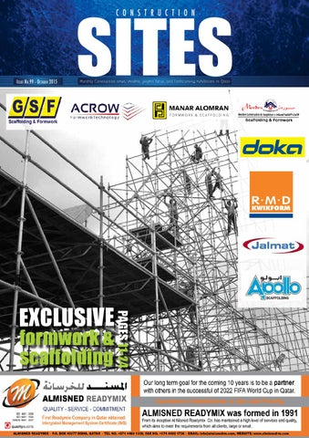 Construction Sites | October Issue no  99 by Qatar Construction