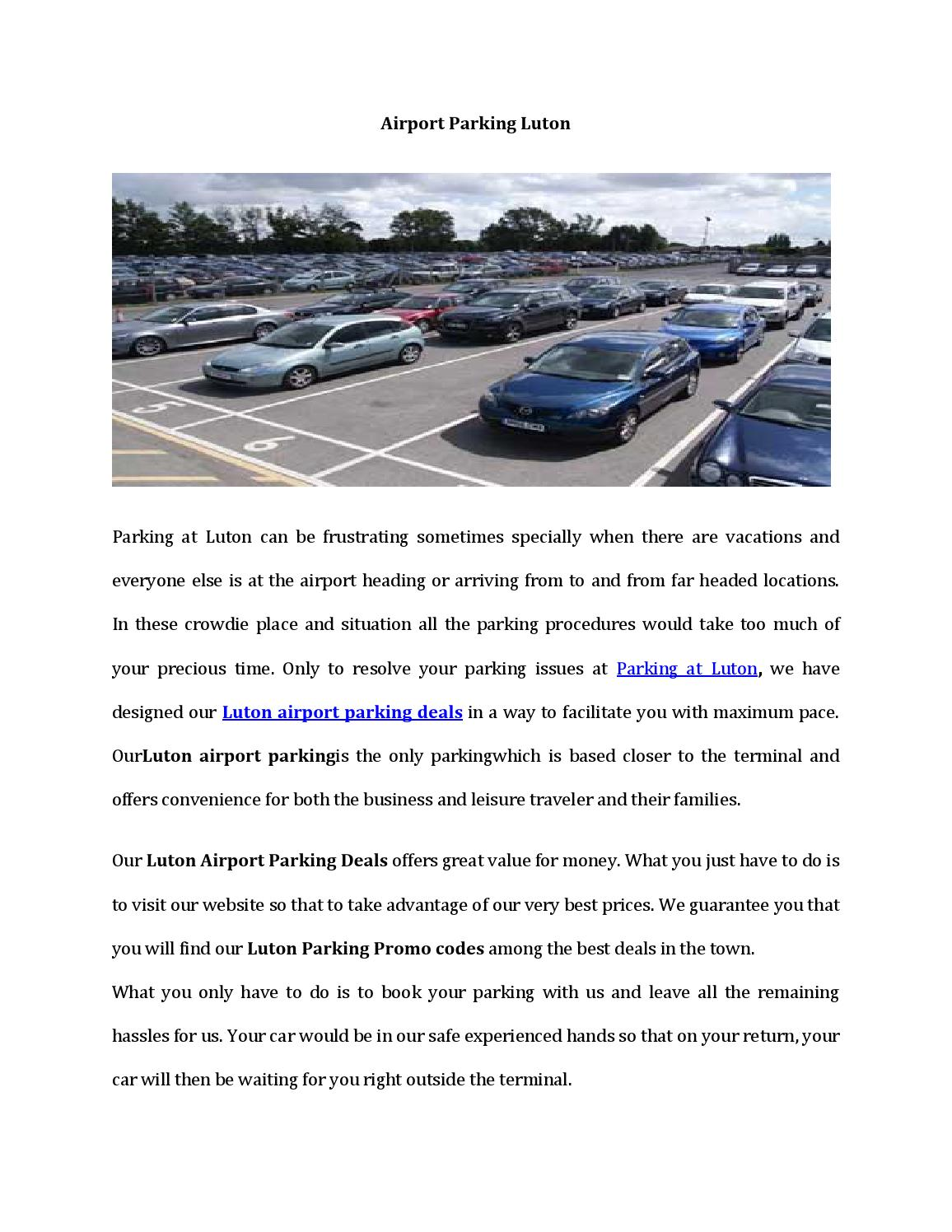 Airport Parking Luton With Compare Parking Deals By Rubyclark613 Issuu
