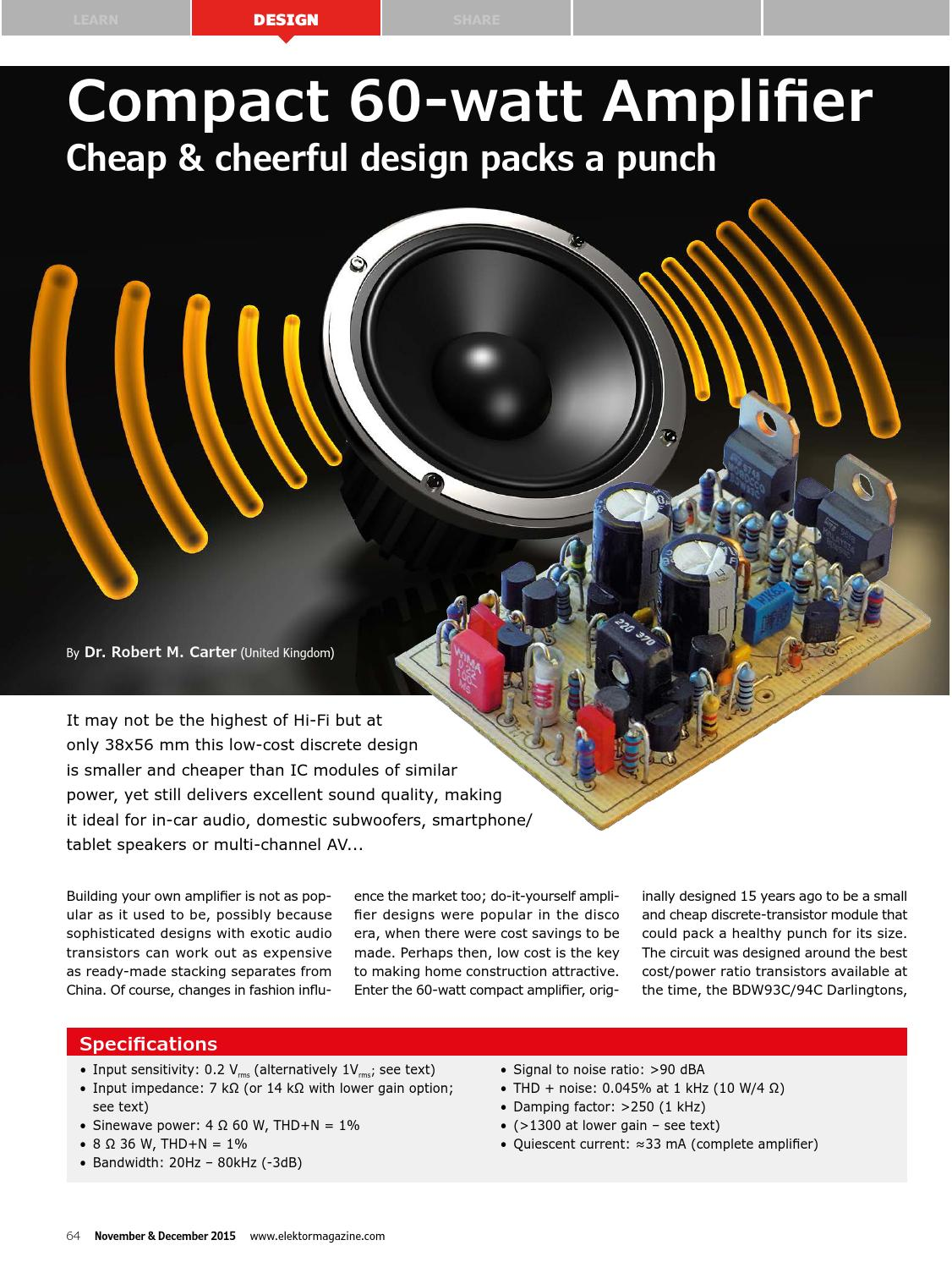 Elektor Edition 6 2015 By Issuu Small Transistor Amplifier Ideals