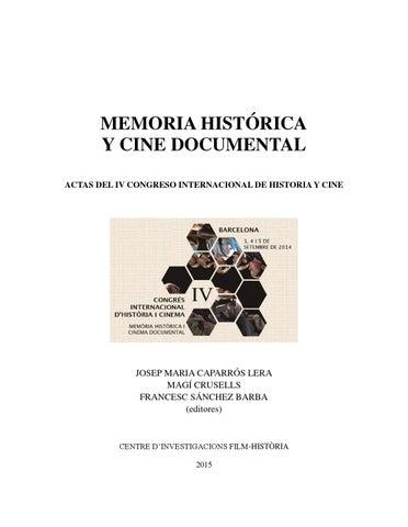 Actas Del Iv Congreso Internacional De Historia Y Cine By