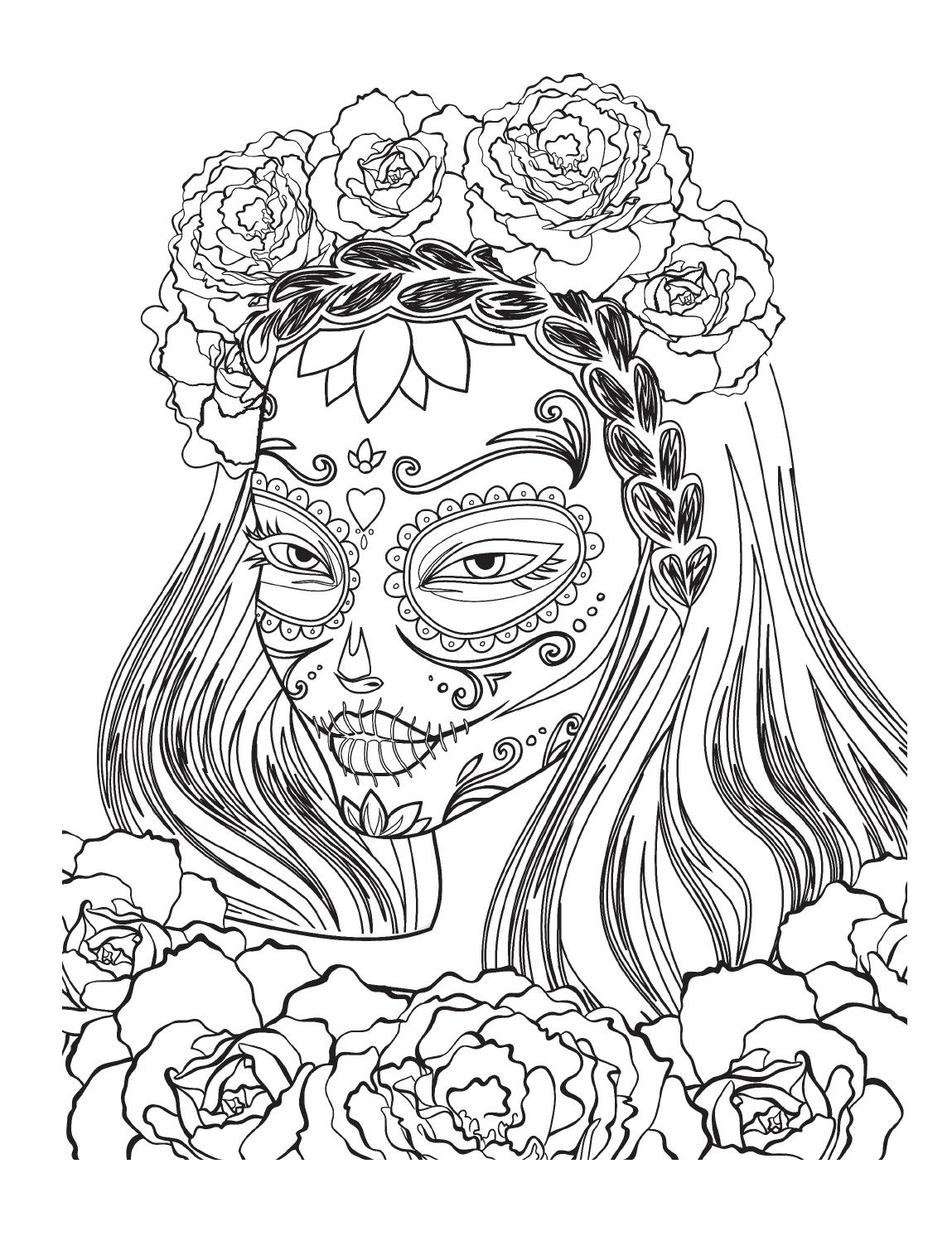 Arteterapie vysm t lebky by nakladatelstv jota issuu for Mexican coloring pages for adults