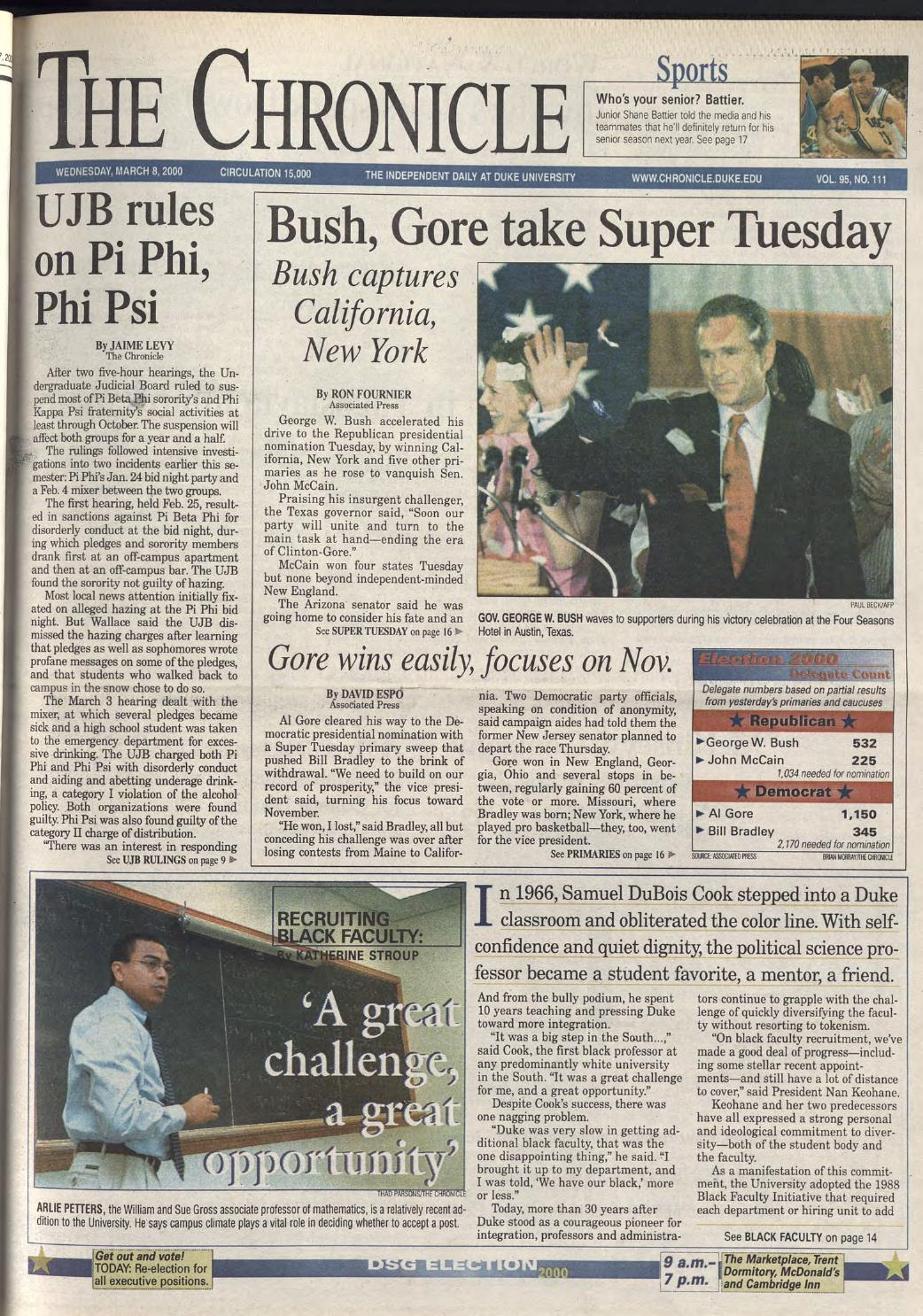 March 8 2000 By Duke Chronicle Print Archives