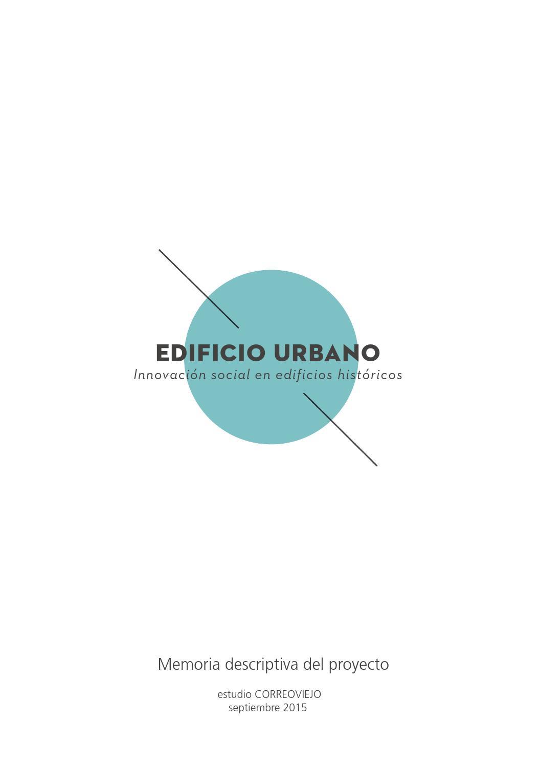 2015 memoria descriptiva del edificio urbano by estudio for Memoria descriptiva arquitectura