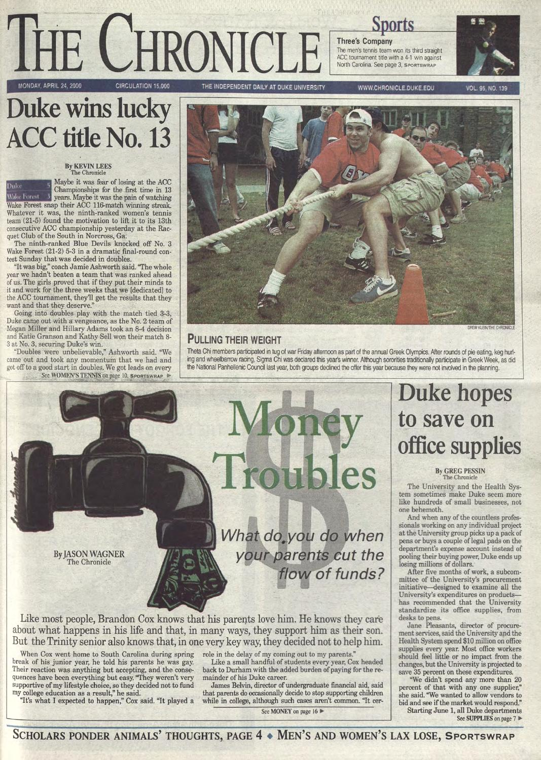 Lovely April 24, 2000 By Duke Chronicle Print Archives   Issuu