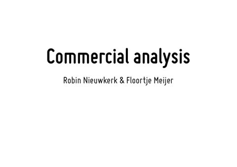 Commercial analysis by FloortjeM - issuu