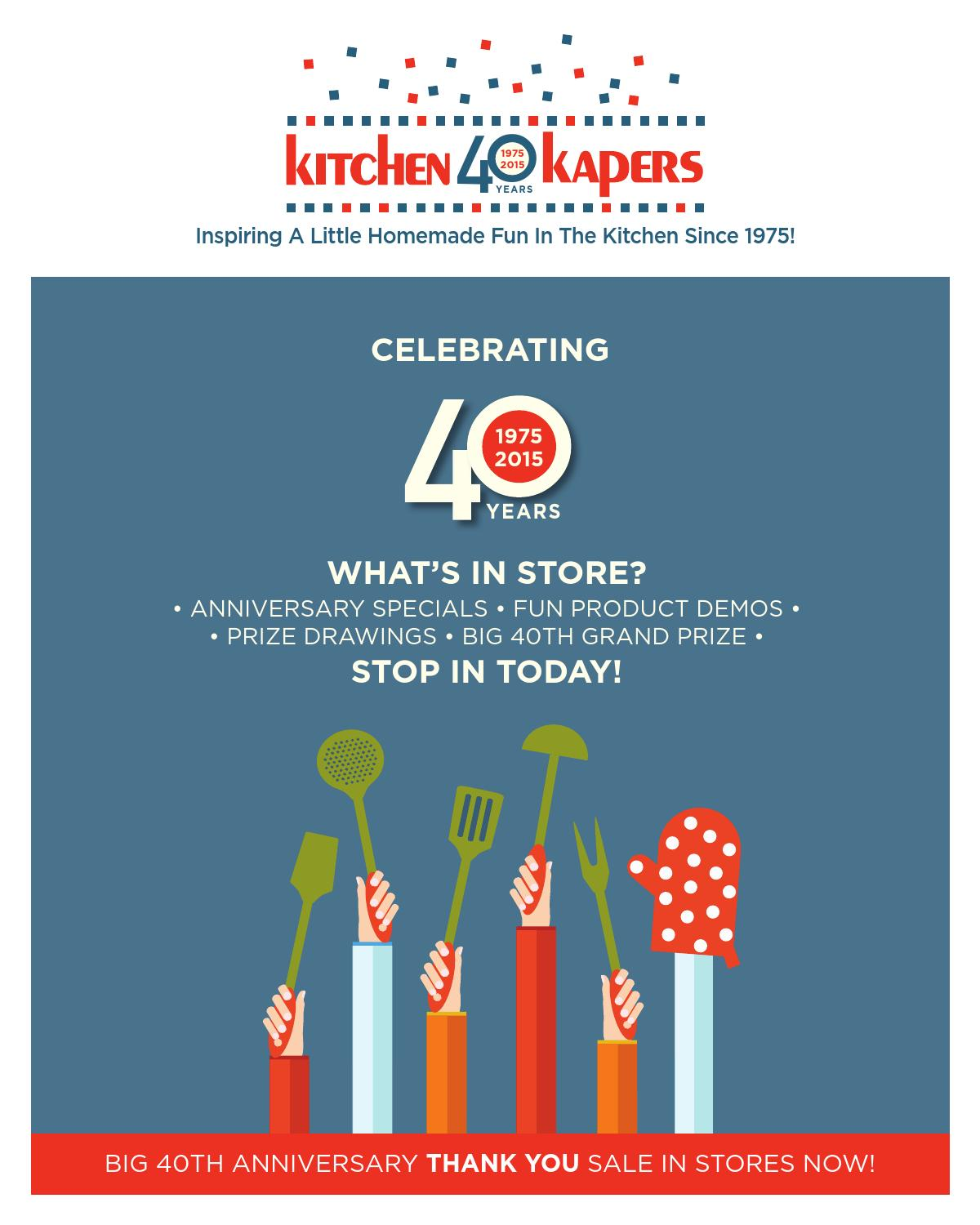 Kitchen Kapers 2015 Catalog - Anniversary Edition by Kitchen Kapers ...