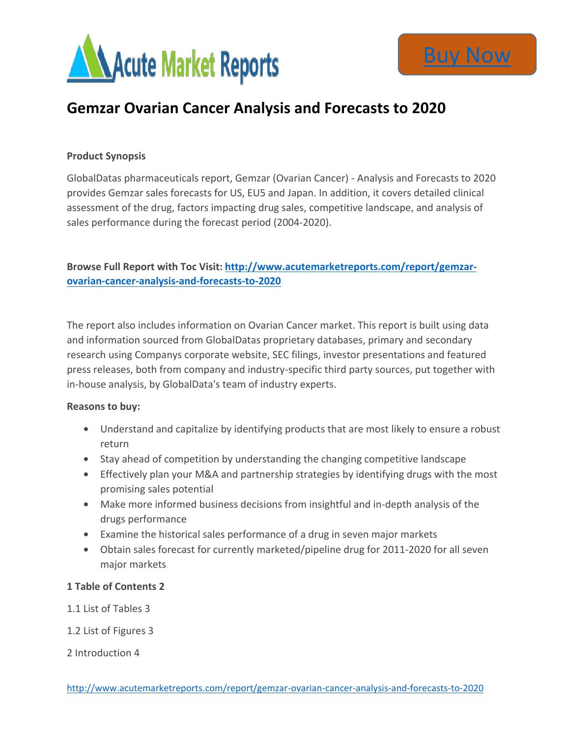 Latest Reports Gemzar Ovarian Cancer 2020 Market By Acute Market Reports By Acute Market Reports Issuu