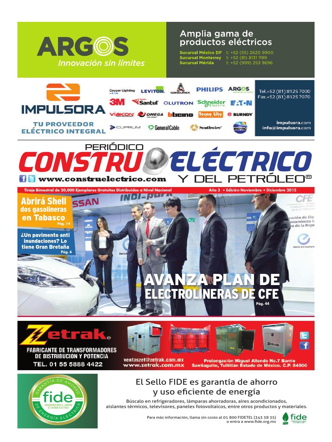 Construel Ctrico Y Del Petrol O Nov Dic 2015 By Peri Dico  # Muebles Leviton Rosario