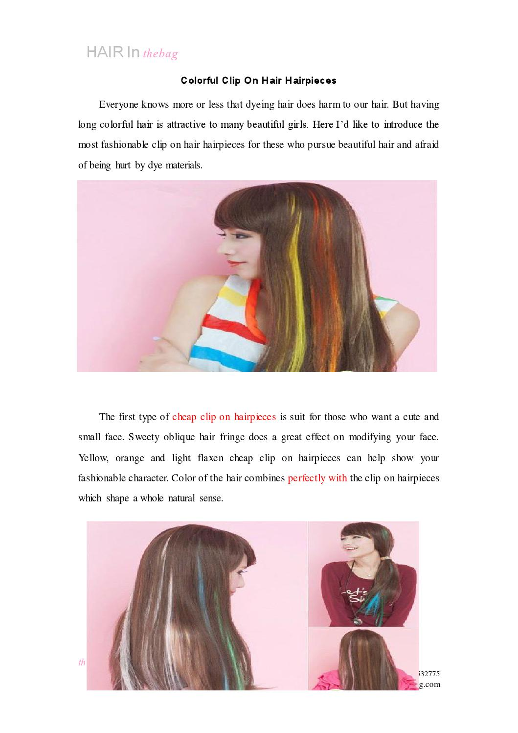 Colorful Clip On Hair Hairpieces By Globeking Issuu