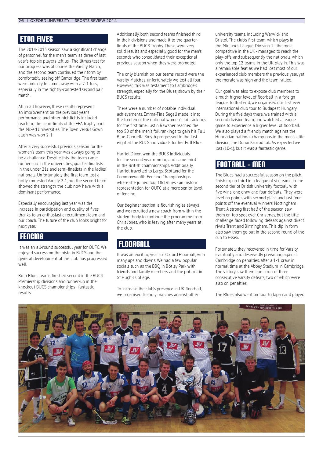 Sports Review 2015 by Oxford University Sport - issuu