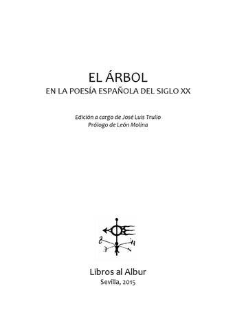 cca3b4cc8 EL ÁRBOL EN LA POESÍA ESPAÑOLA DEL S. XX by Libros al Albur - issuu