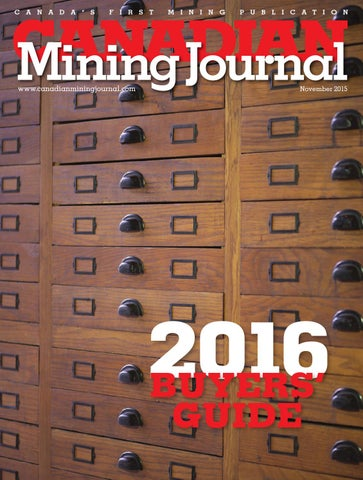 Canadian Mining Journal November 2017 By The Northern Miner