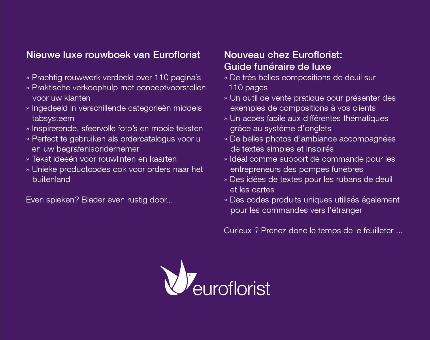 Bekend Euroflorist Rouwgids - Guide funéraire de luxe by Euroflorist - issuu EO-16