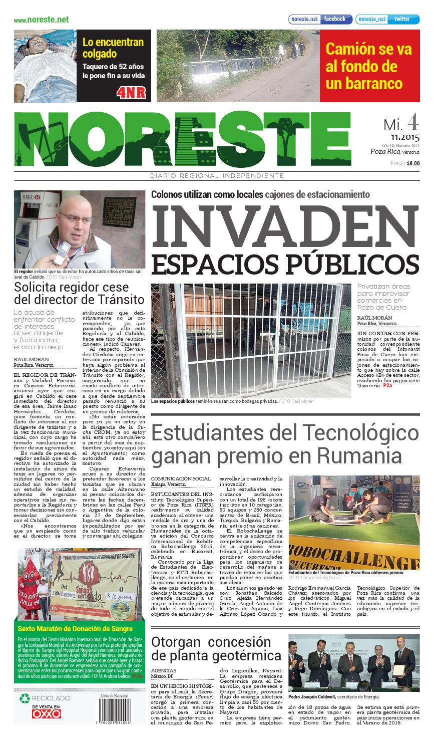 Versi N Impresa 04 De Noviembre De 2015 By Noreste Diario  # Muebles Metalicos Juquila