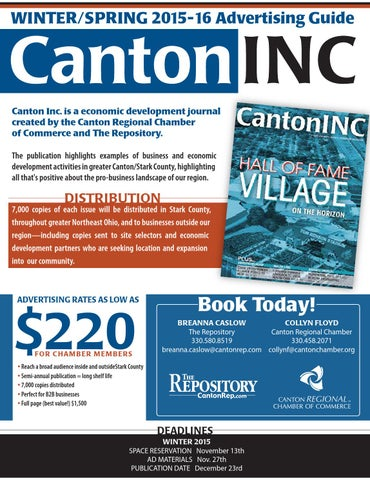 Canton inc winter spring 2015 16 rate card