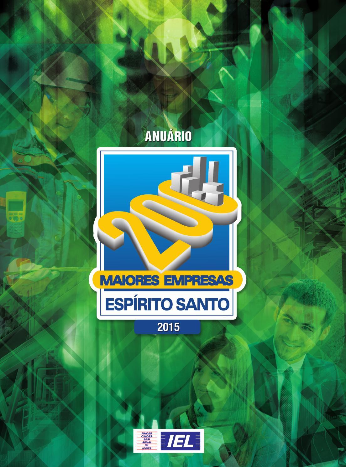 Anuário IEL 200 Maiores Empresas no Espírito Santo 2015 by Next Editorial -  issuu c5f52c78ba1e6