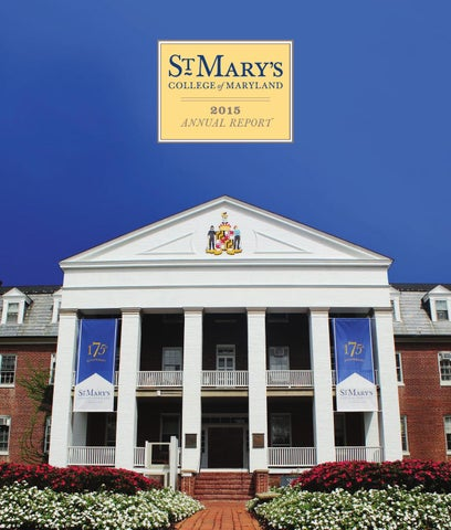 Annual Report Fy2015 By St Marys College Of Maryland Issuu