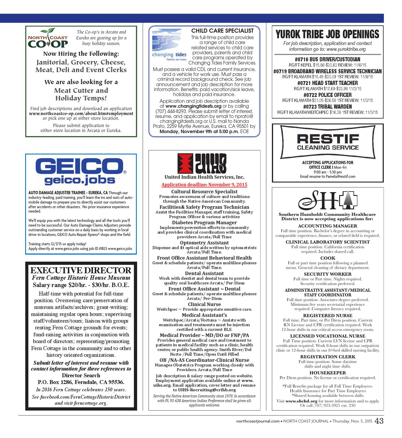 North Coast Journal 11-05-15 Edition by North Coast Journal